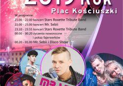 Sylwester na pl. Kościuszki. Wystąpią Mr. Sebii i Roxette Tribute Band