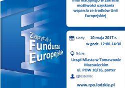 Mobilny Punkt Informacji o Funduszach Europejskich. Konsultacje w Urzędzie Miasta