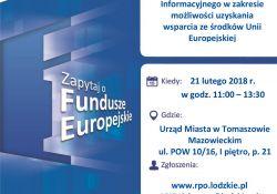 Dowiedz się jak pozyskać fundusze unijne - spotkanie