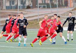 Na zdjęciu piłkarze Lechii podczas meczu ligowego