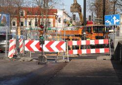 Od czwartku przebudowa skrzyżowania ulic Barlickiego, Konstytucji 3 Maja i Warszawskiej