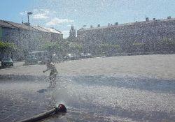 Kurtyna wodna na pl. Kościuszki
