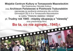"""""""Bo ta co nie zginęła… 1945 r."""". Projekcja filmu w DOK-u"""