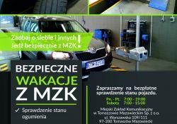 Bezpieczne wakacje z MZK ‒ sprawdź bezpłatnie stan auta
