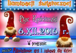 6 grudnia  pokaz iluminacji świątecznych na pl. Kościuszki
