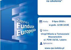 Fundusze Europejskie na szkolenia