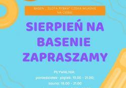 """Basen """"Złota Rybka"""" w sierpniu"""