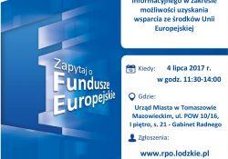 Informacje o funduszach europejskich. Bezpłatne konsultacje w Urzędzie Miasta