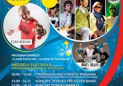 A może byśmy tak na Dzień do Tomaszowa… 31 lipca koncerty Grubsona, Papa D. i Indios Bravos