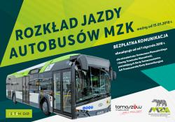 Od 15 stycznia nowy rozkład jazdy MZK [POBIERZ]