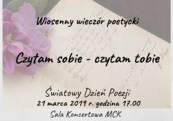 """""""Czytam sobie - czytam tobie"""" czyli Światowy Dzień Poezji w Tomaszowie Mazowieckim"""