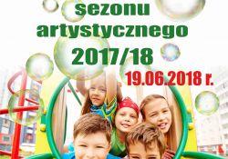 plakat promujący zakończenie sezonu artystycznego w filii Tkacz
