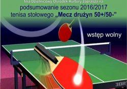 Mecz tenisa stołowego drużyn 50+/50-