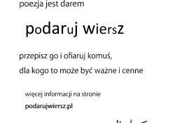 """Tomaszów dołączył do akcji """"Podaruj wiersz"""""""