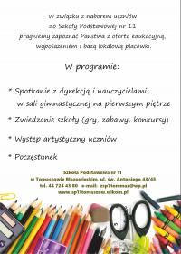 Dzień Otwarty Szkoły Podstawowej nr 11