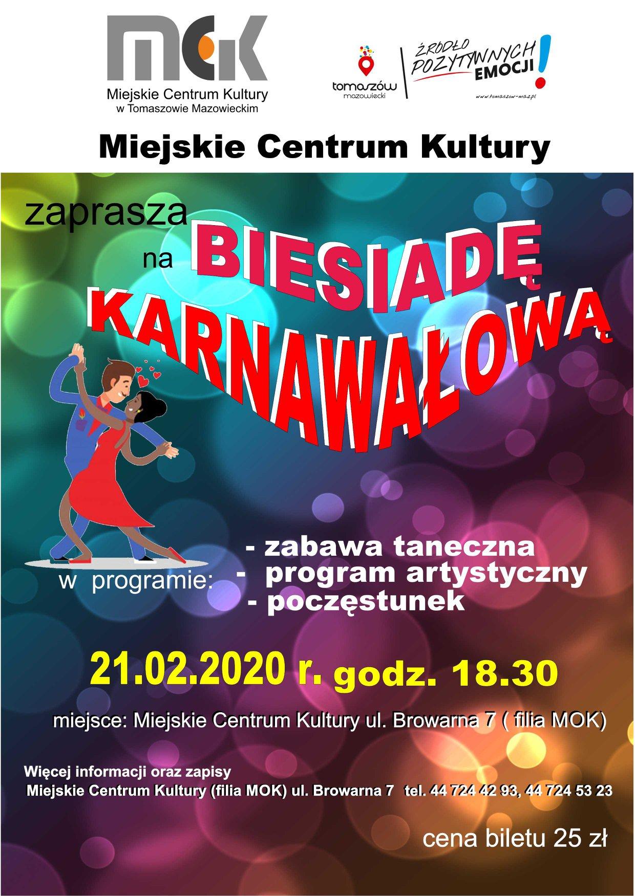 biesiada karnawałowa 2020 plakat