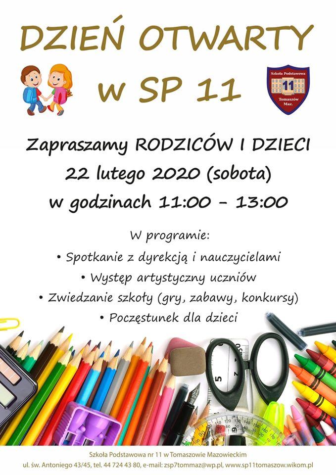 dzień otwarty SP 11 2020 plakat