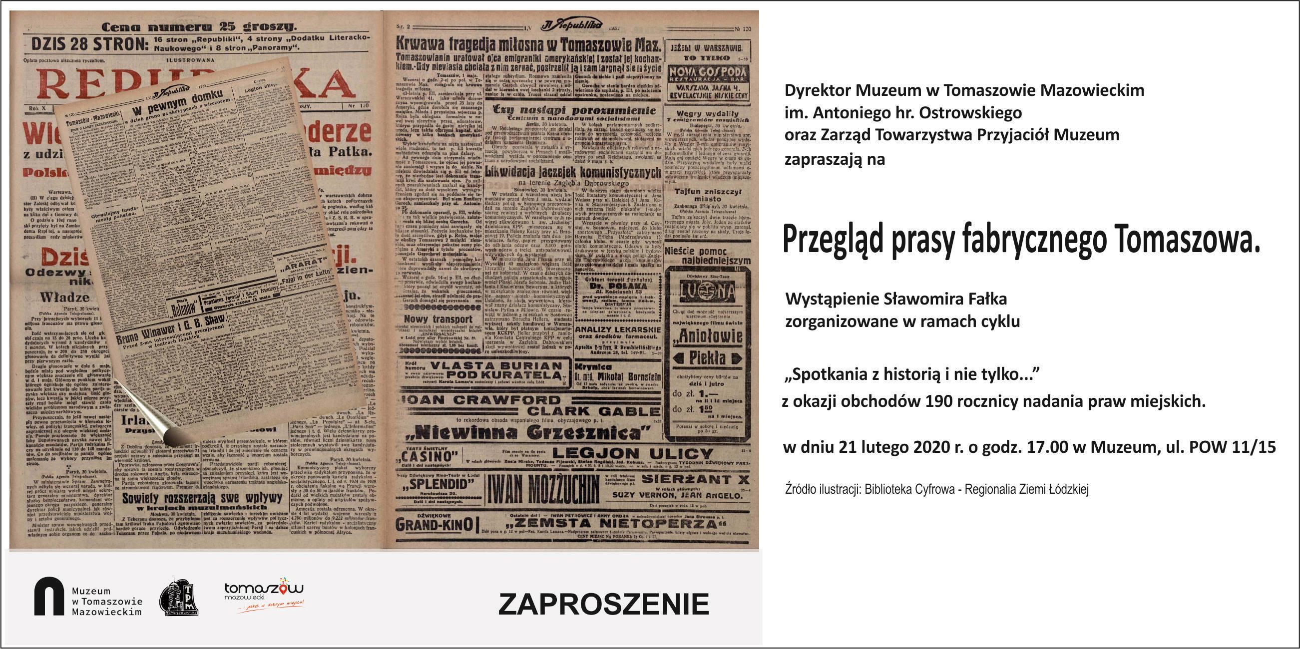 prasa fabrycznego Tomaszowa plakat
