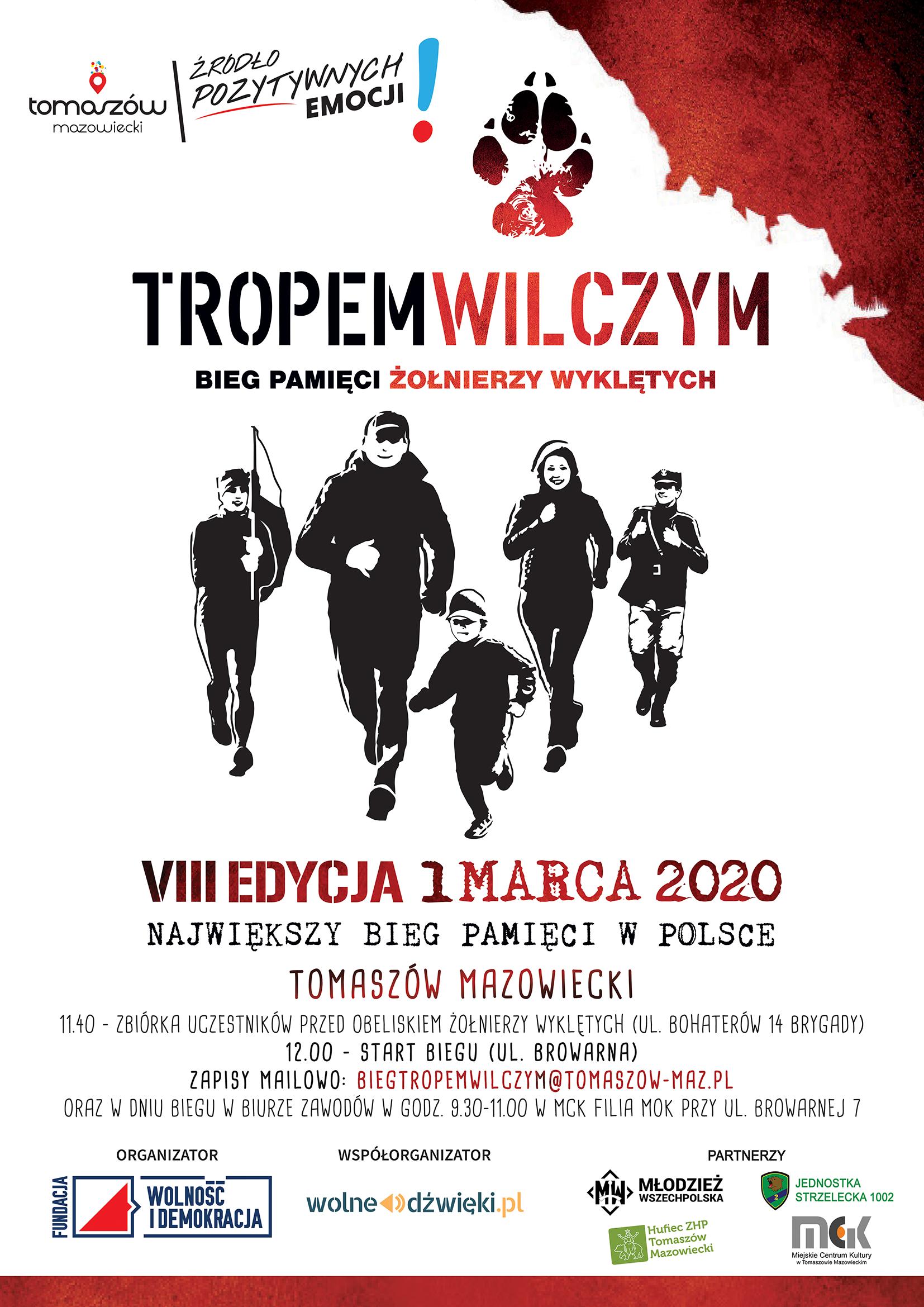 bieg tropem wilczym 2020 plakat