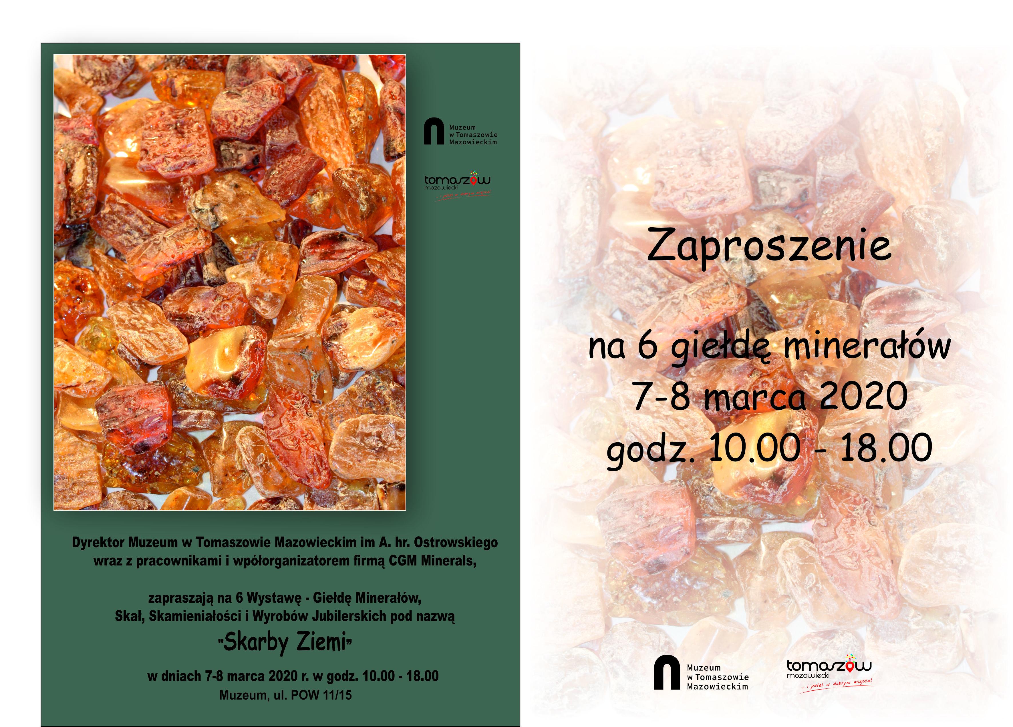 giełda minerałów w muzeum plakat