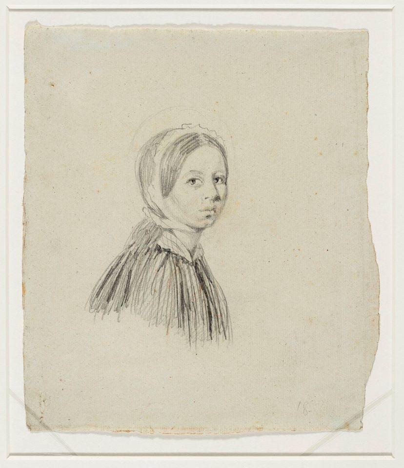 portret żony w czepku P. Michałowski