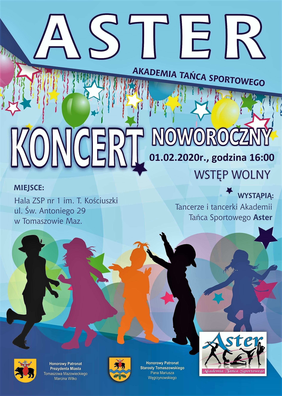 koncert noworoczny 2020  Aster plakat