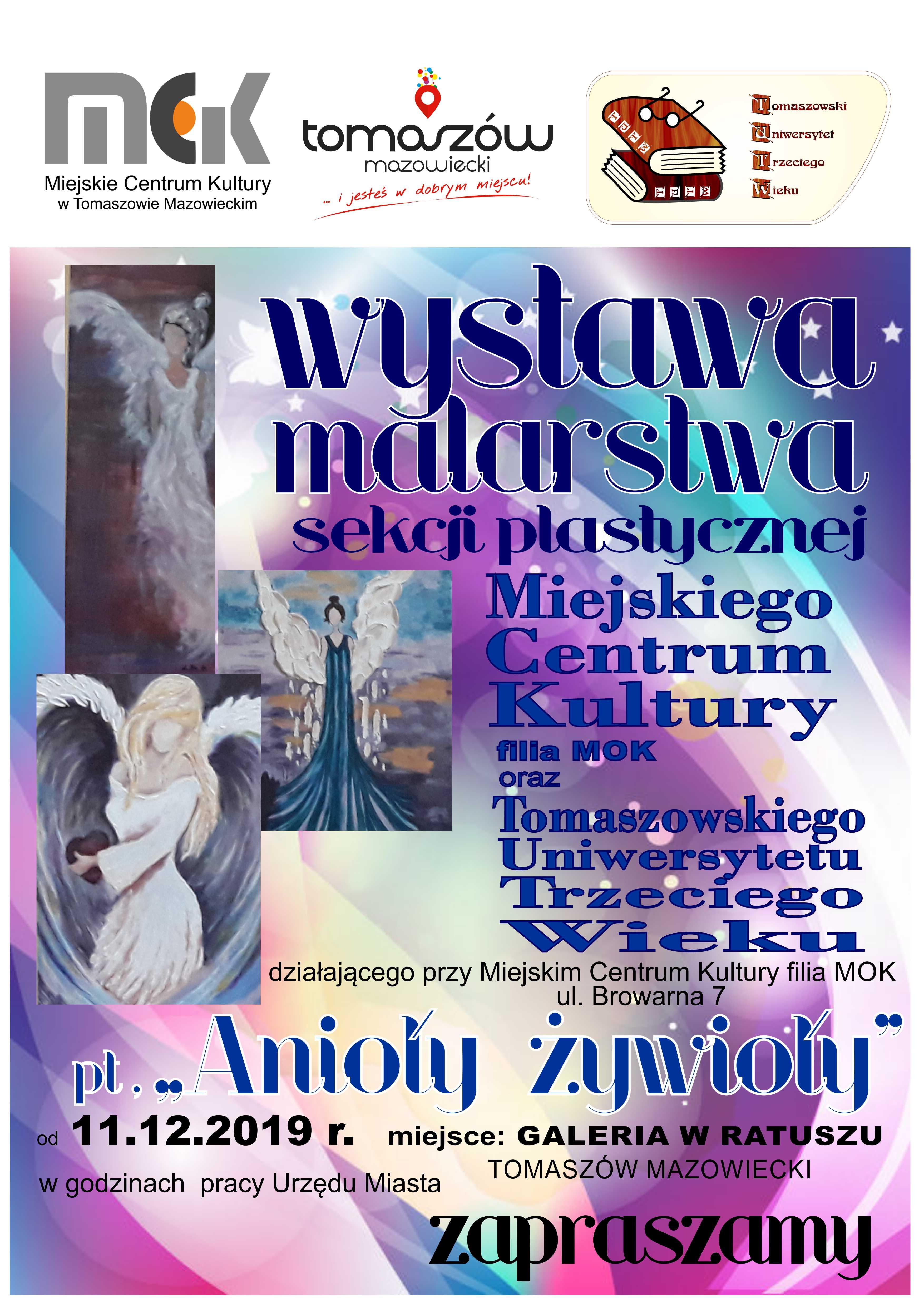 wystawa Anioły Żywioły Galeria w Ratuszu
